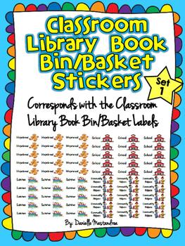 Classroom Library Book Bin STICKERS- SET 1 {Corresponds w/