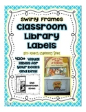 Classroom Library Book Labels - 420+ Swirly Frame Bin & Bo