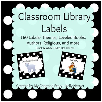 Classroom Library Book Bin Labels {Black & White Series}