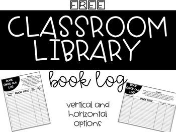 Classroom Library Book Log