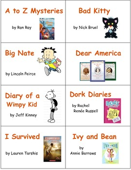 Classroom Library Book and Box Labels BOOK COLLECTIONS SET 3