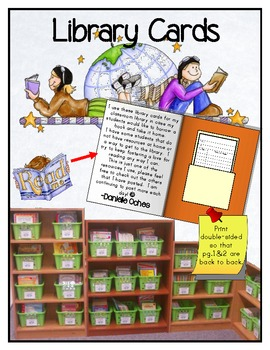 Classroom Library Cards for Borrowing