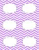 Classroom Library Genre Labels Purple Chevron