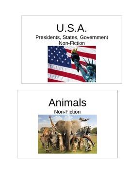 Classroom Library Genre Labels.