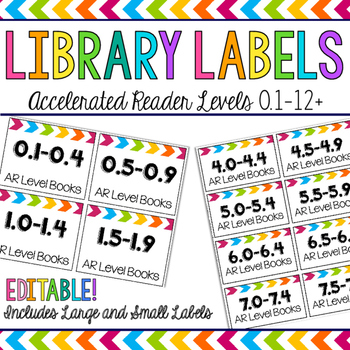 Editable Classroom Library Labels - Accelerated Reader Levels