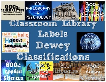 Classroom Library Labels - Dewey Classifications