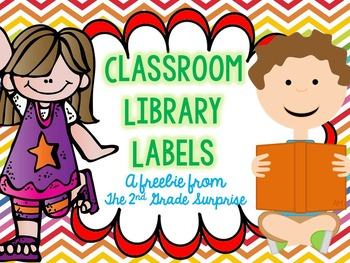 Classroom Library Labels Freebie