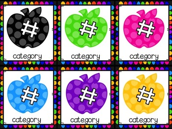 Classroom Library Labels Neon Apples