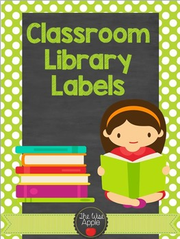 Classroom Library Labels and Sign Out Sheet *Editable*