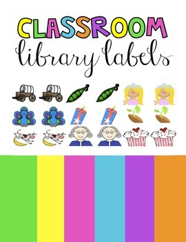 Classroom Library Labels for Books | Brights
