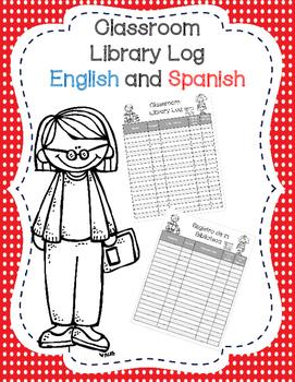 Classroom Library Log English and Spanish!