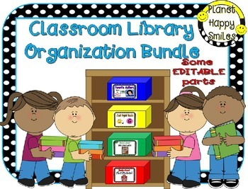 Classroom Library Organization Bundle ~ (EDITABLE) Basket/