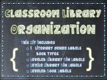 Classroom Library Organization {Chalkboard-Themed}