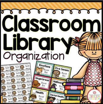 Classroom Library Organization - Editable {Brights Classroom Set}