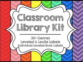 Classroom Library Organization Kit {Chevron}