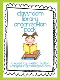 Classroom Library Organization Pack
