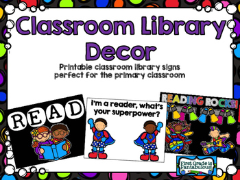 Classroom Library Posters