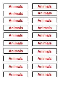 Classroom Library Tags - Non Fiction Animals