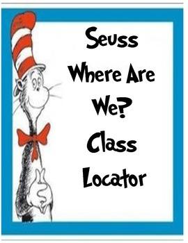 Classroom Location Sign Seuss Theme
