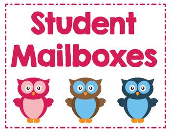 Classroom Mailbox Sign