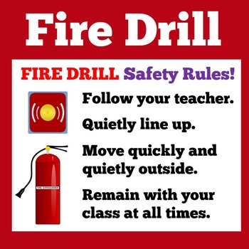 FREE Fire Drill Poster