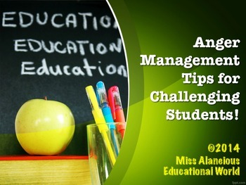 Classroom Management: Anger Management Training Material f
