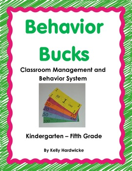 Classroom Money- Behavior Bucks Management System