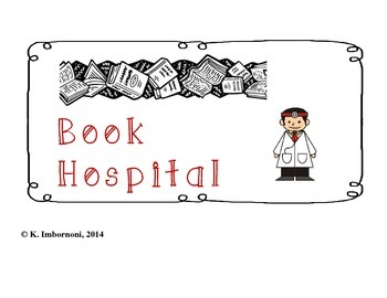 Classroom Management Book Hospital Sign  *Freebie*