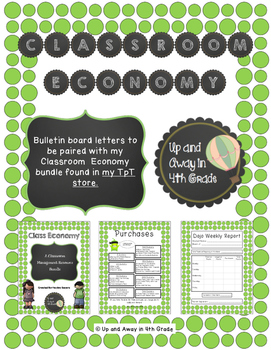 Classroom Management Bulletin Board Letters