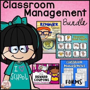 Classroom Management Bundle: Reward Coupons and Reminder B