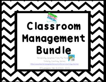 Classroom Management Bundle - Black Chevron