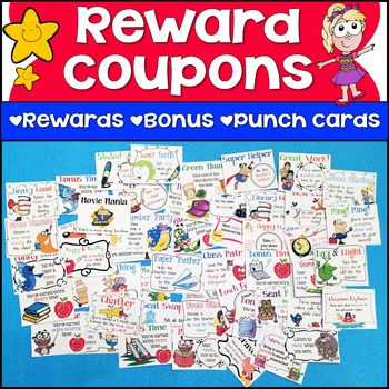 Reward Coupons, Bonus Points & Punch Cards for Classroom M