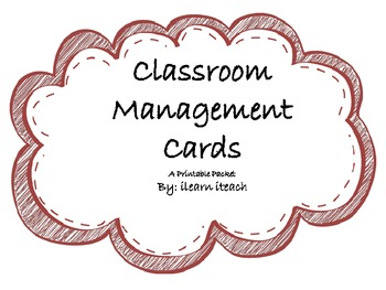 Classroom Management Cards - Great for student accountability!