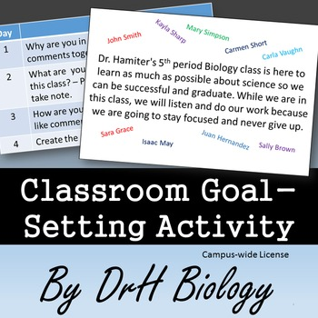 Classroom Management: Classroom Goal-Setting Activity {Cam
