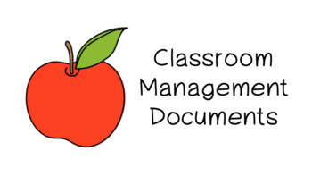 Classroom Management Documents