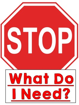 Classroom Management Door Sign - Stop! What Do I Need?