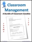 Classroom Management Forms & Tips