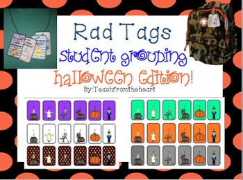 Classroom Management Halloween Themed Rad Tags (Student Gr