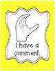 Classroom Management Hand Signal Posters - Polka Dots - Ra