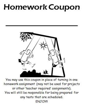 Classroom Management - Incentive Coupons