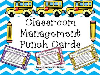 Classroom Management *Incentive* Punch Cards