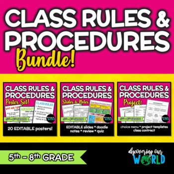 Beginning of the Year Classroom Management Bundle