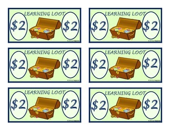Classroom Management Helper - Reward Money - Learning Loot