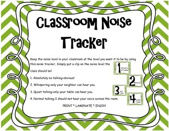 Classroom Management Noise Tracker