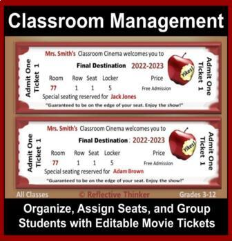 Classroom Management: Organize, Assign Seats, Group with E