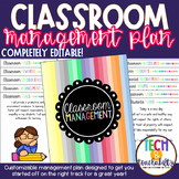 UPDATED: Classroom Management Plan with Bonus!!