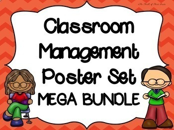 Classroom Management Posters--LISTENING--HANDWASHING--CHEC