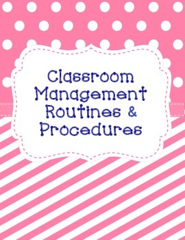 Classroom Management Procedures and Routines & Task Cards