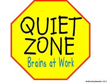 Classroom Management- Quiet Zone Signs & Reading Stop Signs