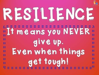 Classroom Management - Resilience Poster - Life Skills